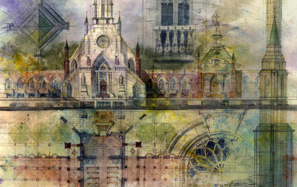 Cityscapes Wall Art - Painting - Gothic by Andrew King