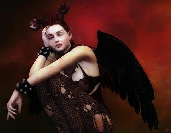 Painting - Gothic Angel by Maynard Ellis