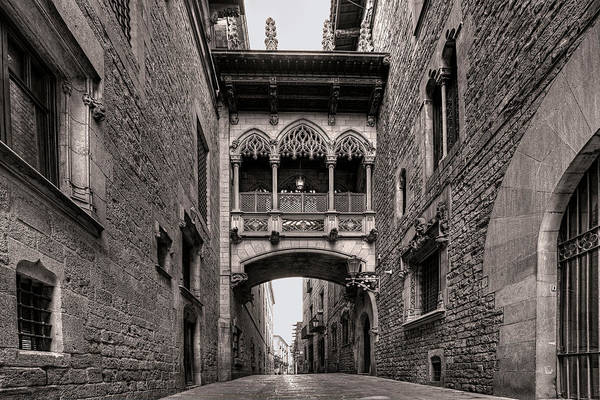 Photograph - Gothic Barcelona by Peter Kennett