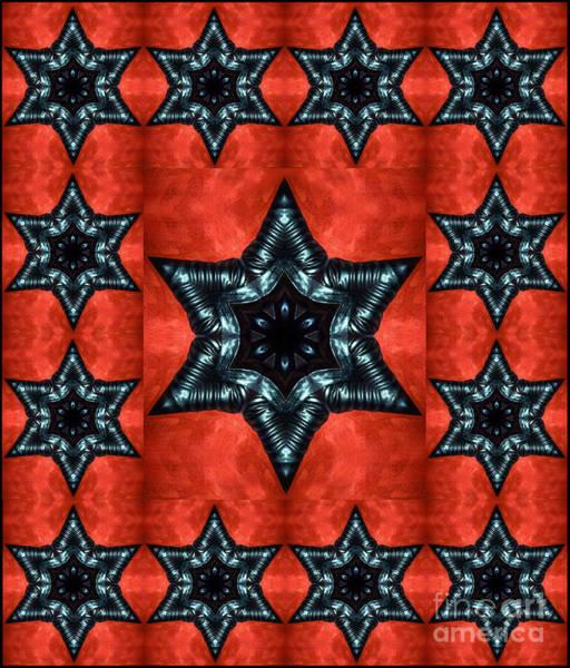 Judaica Digital Art - Gothic Black Stars - Digital Art by Sofia Metal Queen