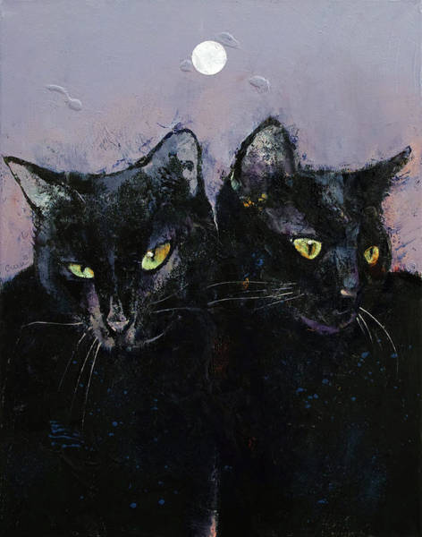 Wall Art - Painting - Gothic Cats by Michael Creese