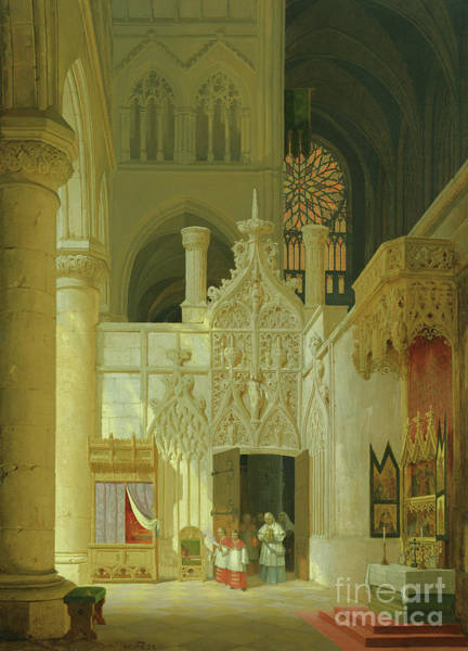 Wall Art - Painting - Gothic Church, 1831  by Max Emanuel Ainmiller