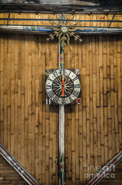 Wall Art - Photograph - Gothic Clock On The Ceiling Of Sint Laurenskerk In Alkmaar by RicardMN Photography
