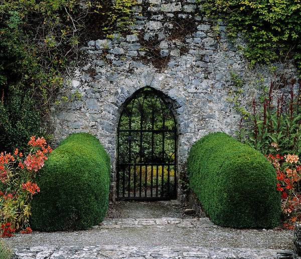Horizontally Photograph - Gothic Entrance Gate, Walled Garden by The Irish Image Collection