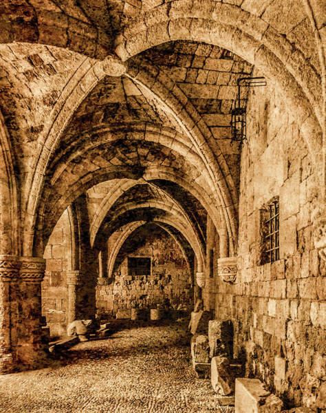 Photograph - Rhodes, Greece - Gothic Passage by Mark Forte