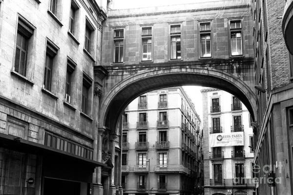 Photograph - Gothic Quarter Arch In Barcelona by John Rizzuto