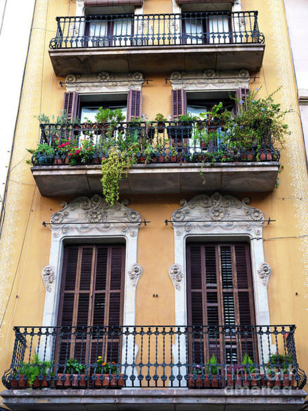 Photograph - Barcelona Gothic Quarter Balcony by John Rizzuto
