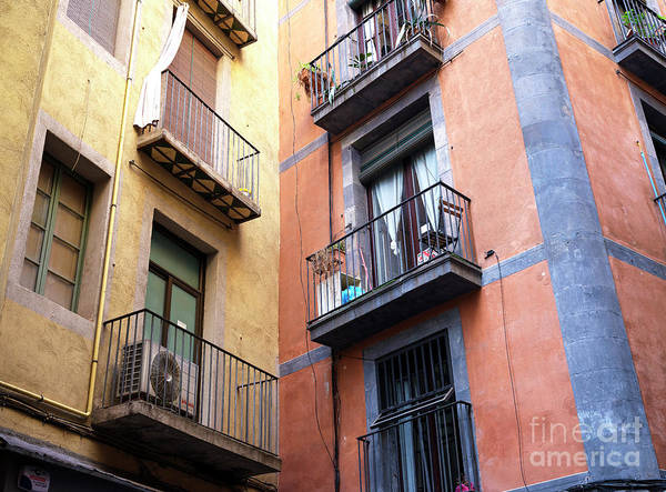 Photograph - Gothic Quarter Building Colors Barcelona by John Rizzuto