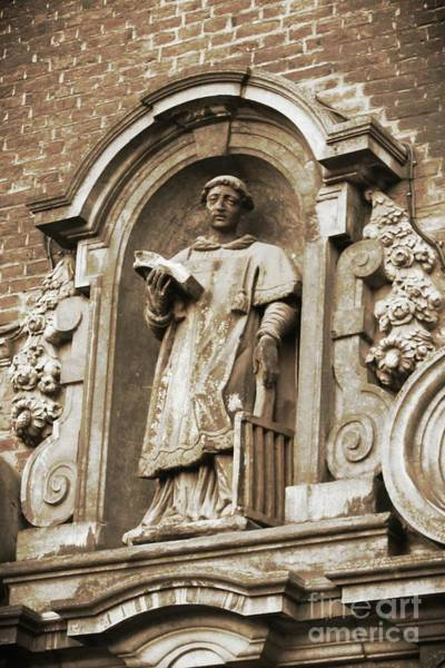 Photograph - Gothic Scholar Relief In Sepia by Carol Groenen