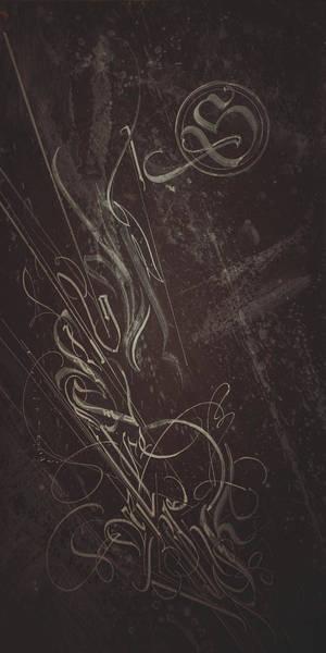 Mixed Media - Gothic Script. Calligraphic Abstract by Dmitry Mandzyuk