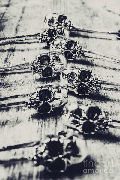 Wall Art - Photograph - Gothic Skull Pins by Jorgo Photography - Wall Art Gallery