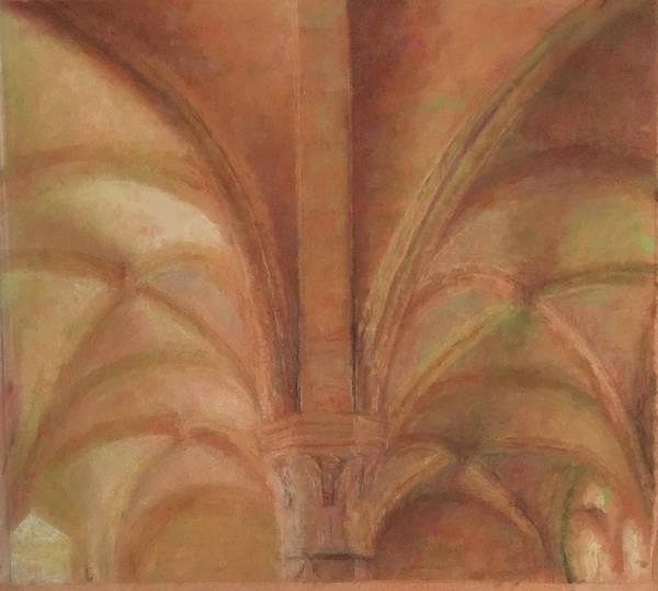 Nerves Drawing - Gothic Vault by Paez ANTONIO