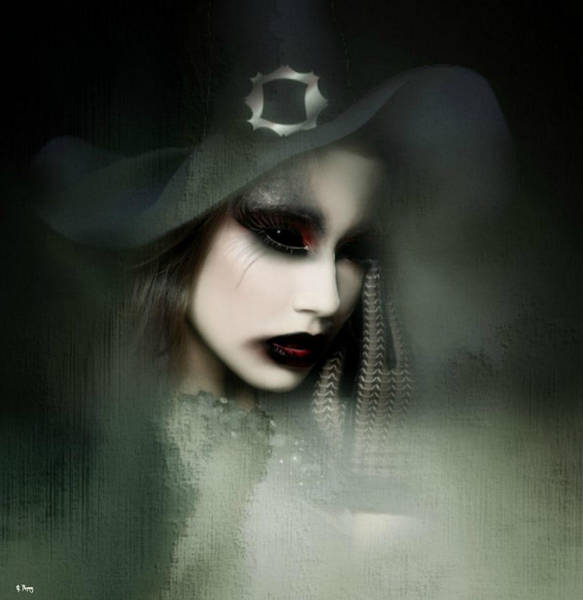 Desire Mixed Media - Gothic Witch by G Berry