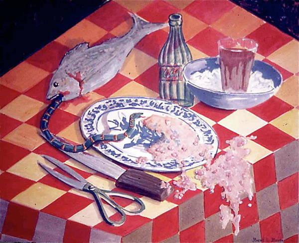 Painting - Gourmet Fish Dinner by Frank Hunter