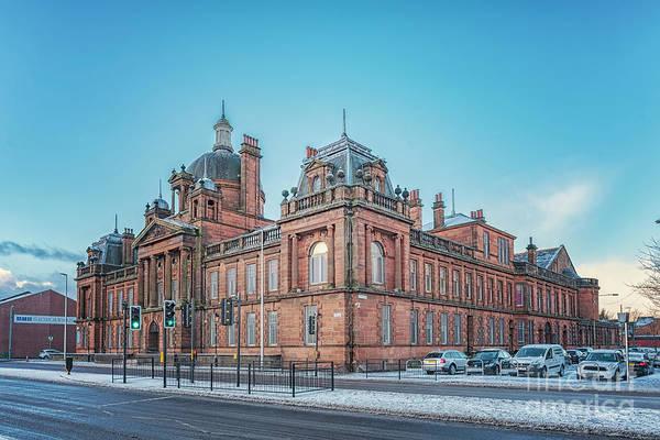 Wall Art - Photograph - Govan Town Hall Right Side View by Antony McAulay