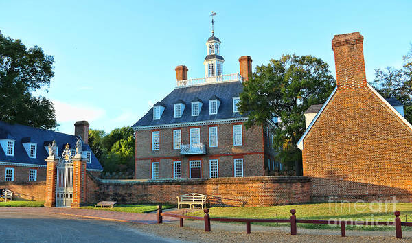 Williamsburg Photograph - Governors Palace Colonial Williamsburg  4808 by Jack Schultz