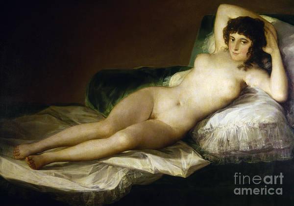 Painting - Goya: Nude Maja, C1797 by Granger