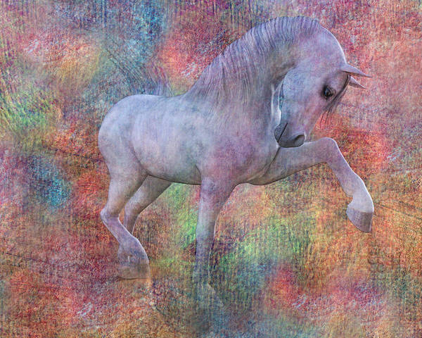 White Horse Digital Art - Grace by Betsy Knapp