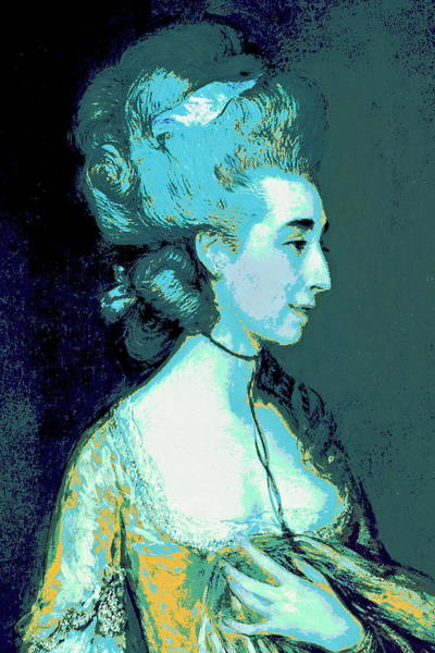 Thomas Gainsborough Wall Art - Painting - Grace Blue by Diana Ludet