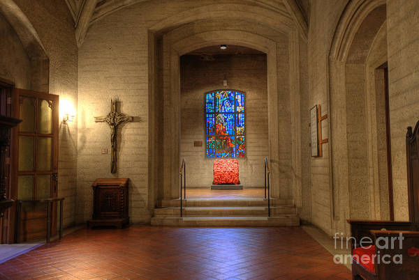 Grace Cathedral Photograph - Grace Cathedral Side Altar by David Bearden