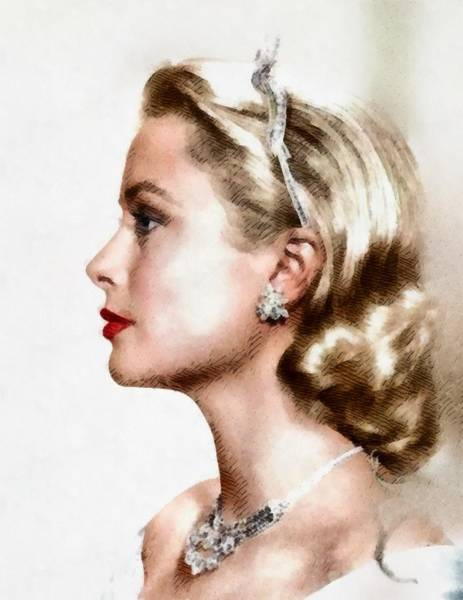 Screen Painting - Grace Kelly, Actress And Princess by John Springfield