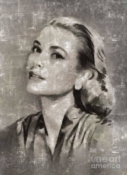 Stardom Painting - Grace Kelly By Mary Bassett by Mary Bassett