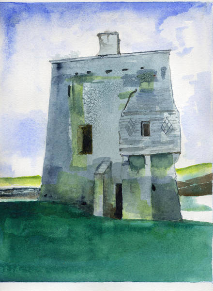 Painting - Grace O'malley's Castle Clare Island by Kathleen Barnes