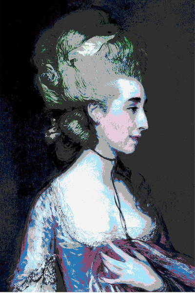 Thomas Gainsborough Wall Art - Painting - Grace Pink by Diana Ludet