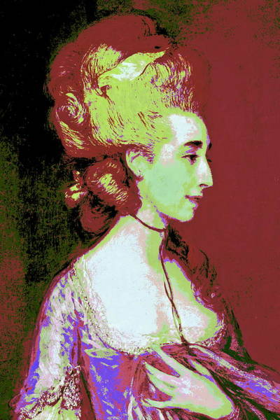 Thomas Gainsborough Wall Art - Painting - Grace Red by Diana Ludet