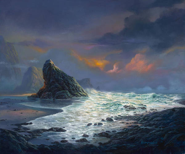 Wave Painting - Grace Under Fire by Michael Humphries