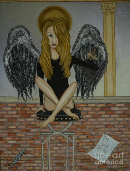Black Crowes Wall Art - Painting - Grace by Wendy Wunstell