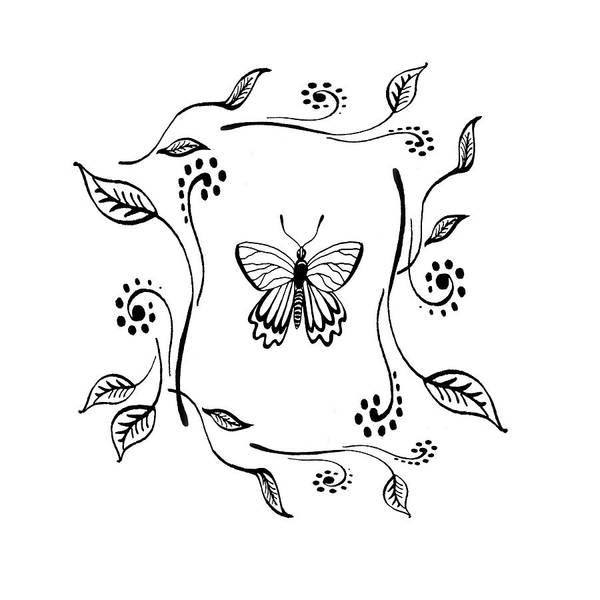 Drawing - Graceful Butterfly Baby Room Decor II by Irina Sztukowski