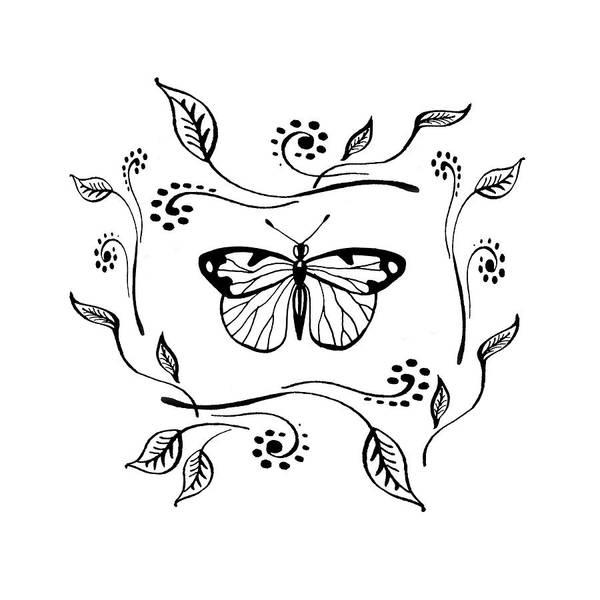 Drawing - Graceful Butterfly Baby Room Decor V by Irina Sztukowski
