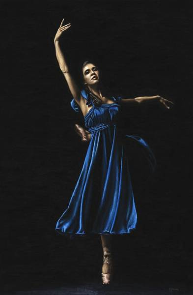 Graceful Painting - Graceful Dancer In Blue by Richard Young