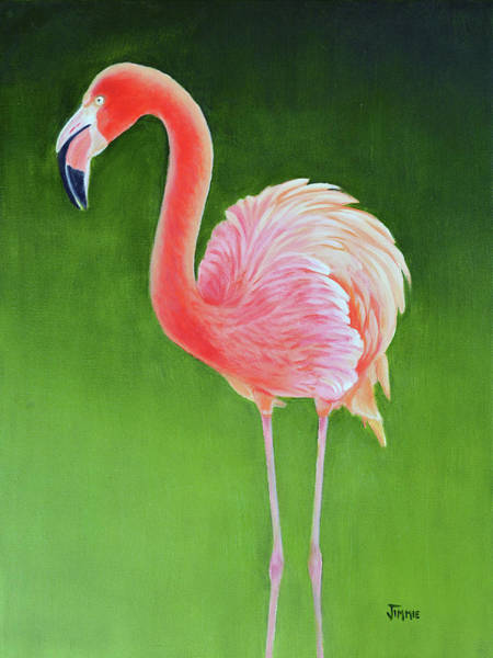 Water Foul Painting - Graceful Flamingo by Jimmie Bartlett