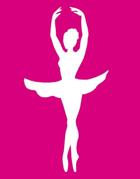 Girly Girl Painting - Graceful Silhouette Of Dancing Ballerina by Irina Sztukowski