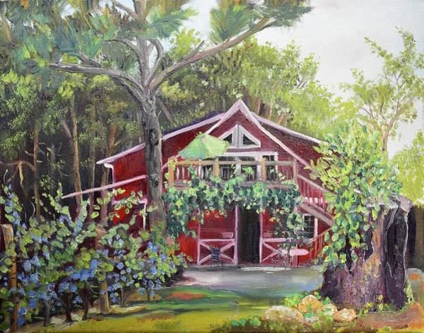 Painting - Gracie's Place At Ellijay River Vineyard - Ellijay, Ga by Jan Dappen