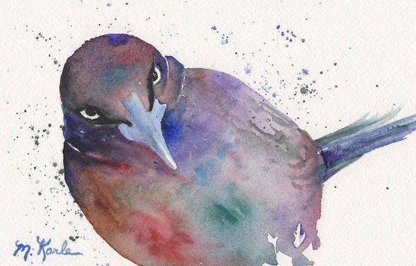Painting - Grackula by Marsha Karle