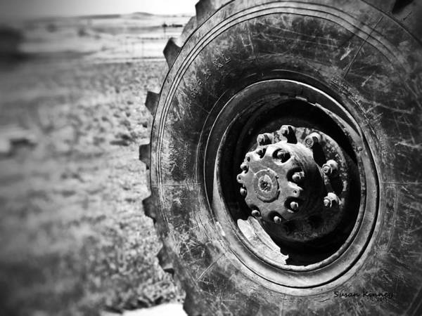 Photograph - Grader Tire by Susan Kinney