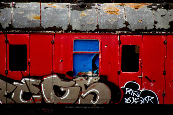 Graff Train Art Print by Jez C Self
