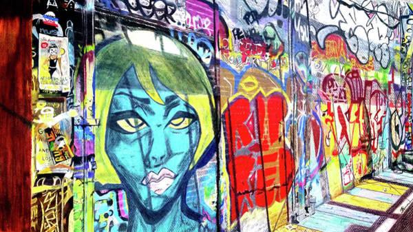 Art Print featuring the drawing Graffiti Alley, Boston, Ma by Patti Ferron