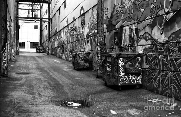 Wall Art - Photograph - Graffiti Alley In Gastown Mono by John Rizzuto