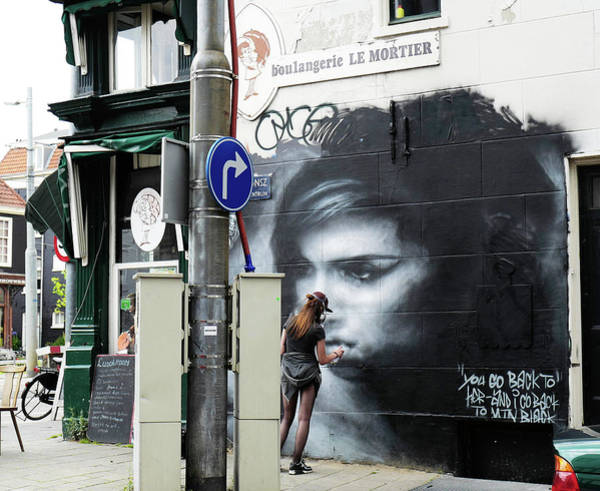 Photograph - Graffiti Art Tribute To Amy Winehouse - Amsterdam by Rona Black