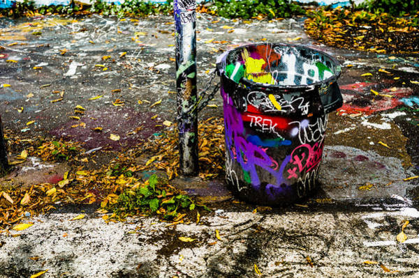 Photograph - Graffiti Can by M G Whittingham