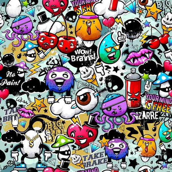 Wall Art - Painting - Graffiti Fun by Mark Ashkenazi