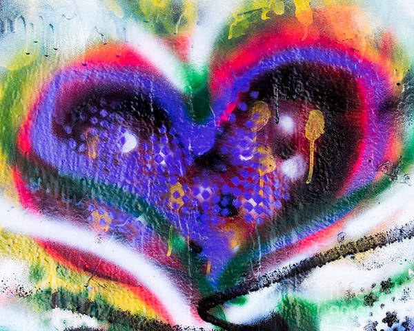 Photograph - Graffiti Heart by Phil Spitze