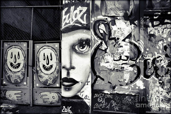 Photograph - Graffiti In Black And White - I Am by Daliana Pacuraru