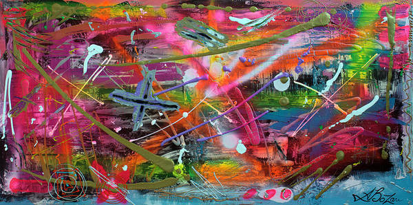 Neon Pink Painting - Graffiti by Laura Barbosa