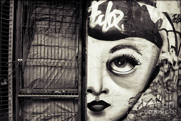 Photograph - Graffiti Monochrome - Journey To The Centre Of The Eye by Daliana Pacuraru