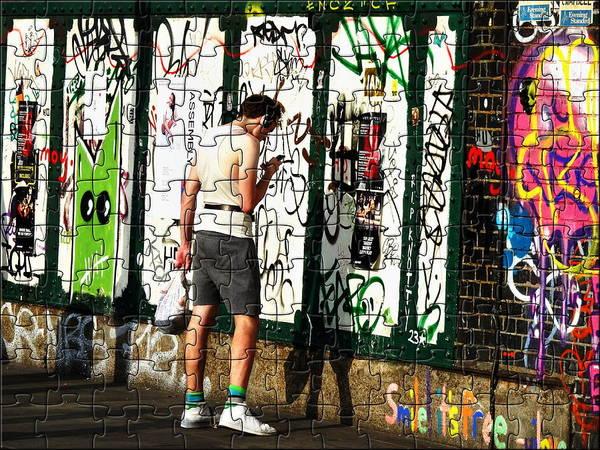 Wall Art - Photograph - Graffiti Puzzle In London  by Funkpix Photo Hunter